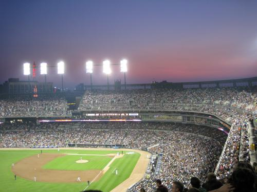 Sunset in Comerica Park