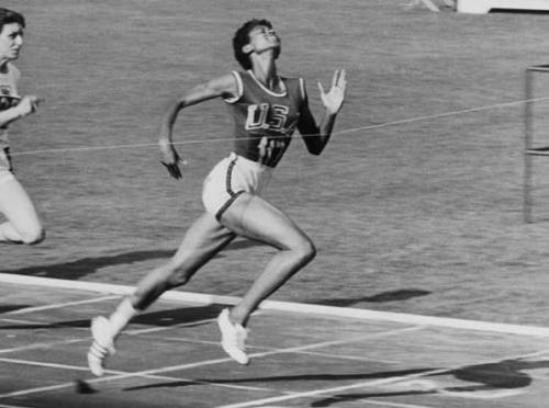 Wilma Rudolph wins